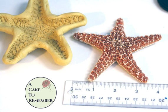 "Extra-large 4 1/2"" starfish Mold for cake decorating, chocolate mold, polymer clay mold, resin mold, soap, silicone mould, starfish mould"