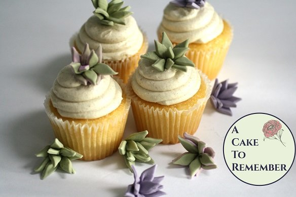 12 small pointy edible gumpaste succulents for cake decorating or cupcake decorating, or DIY wedding cakes