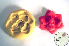 Jewel center flower mold for cake decorating, cupcake decorating, polymer clay or resin. Silicone mould for DIY wedding cakes