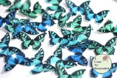 24 edible butterflies for cake decorating, cookies, cupcake decorating, cake pops. Wafer paper butterflies, wedding cake toppers.