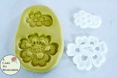 Alencon lace flower mold for cake decorating. Silicone lace mold.