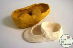 Silicone baby shoe mold for gumpaste or resin. Baby shower cakes.  M5067
