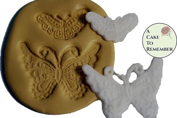 Butterfly lace mold medallion set, silicone butterfly lace molds for cake decorating, silicone lace mould, polymer clay mold.