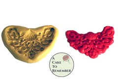 Jewel swag medallion mold for cake decorating, cake borders or polymer clay and resin.