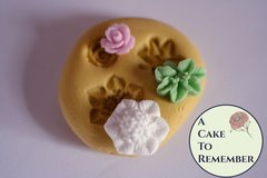 Tiny flower silicone mold for gumpaste. Sized well for cake pops. M5144