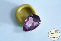 Large pear shaped jewel mini mold, food grade silicone M5140