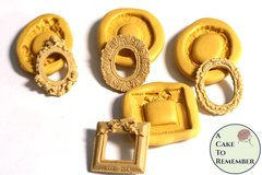 Small frame molds set, fancy frame molds for gumpaste or polymer clay M5166