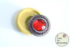 Round banded jewel mini mold, food grade silicone M1106