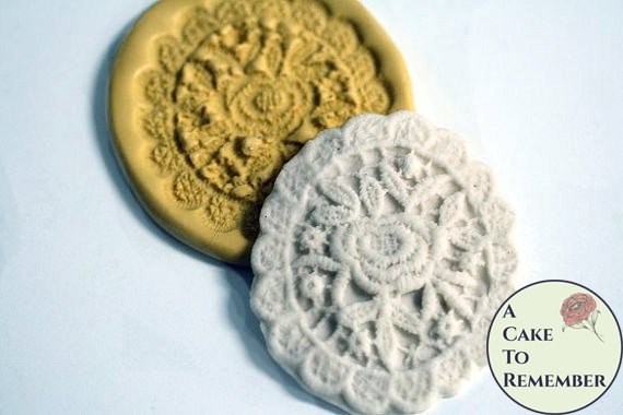 Oval lace mold medallion, wedding cake lace mold, silicone lace mold for cake decorating, silicone lace mould, polymer clay mold.