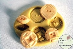 Silicone button mold, diamond shapes. M1040