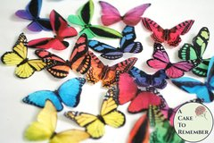 20 rainbow brights edible butterflies for cupcake toppers