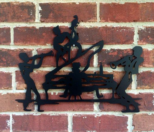 Jazz Band Metal Wall Hanging Sign Art Asher Metal Art
