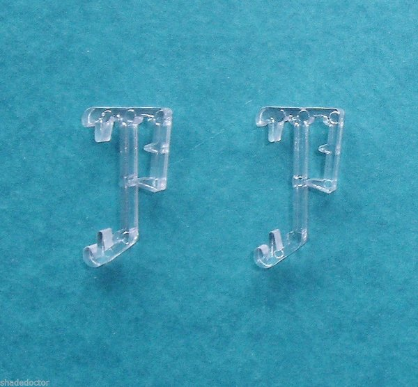 One pair quot single slat clear valance retainer clips for