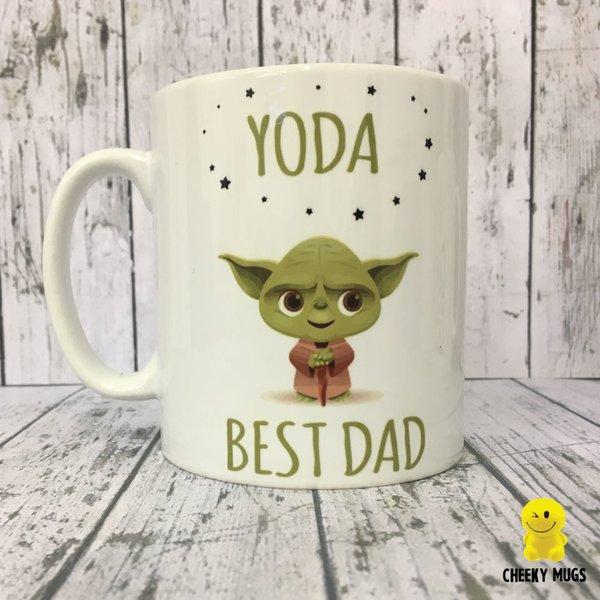 Yoda Best Dad Mug (With free matching badge) F1