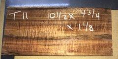 Hawaiian Koa Board Curly  4/4 #T-11