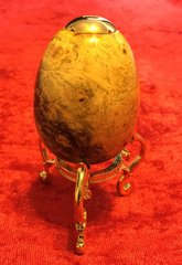 Buckeye Burl Kaleidoscope Egg