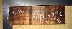 Hawaiian Koa Board Curly  4/4 #T-16