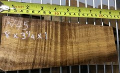 Hawaiian Koa Board Curly 4/4 #N-45