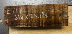 Hawaiian Koa Board Curly 4/4 #E-114