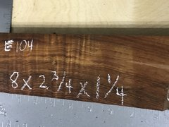 Hawaiian Koa Board Curly 4/4 #E-104