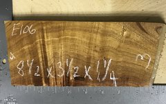 Hawaiian Koa Board Curly 4/4 #E-106