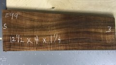 Hawaiian Koa Board Curly 4/4 #E-99