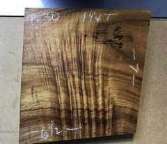 Hawaiian Koa Board Curly 4/4 #P-30B
