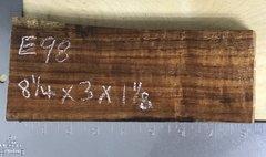 Hawaiian Koa Board Curly 4/4 #E-98