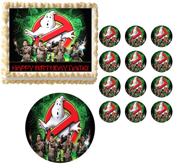 ghostbusters cake topper ghostbusters who you gonna call edible cake topper image 4489