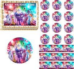 My Little Pony Movie Edible Cake Topper Image Little Pony Cake Little Pony Cupcakes