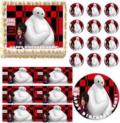 BIG HERO 6 Hiro Baymax Edible Cake Topper Image Frosting Sheet
