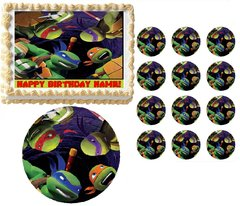 TEENAGE MUTANT NINJA TURTLES Looking Down TMNT Edible Cake Topper Image Frosting Sheet