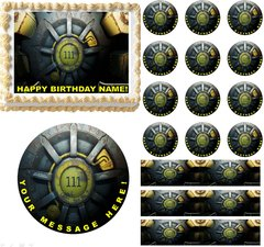Fallout 4 Vault Gaming Edible Cake Topper Image Frosting Sheet