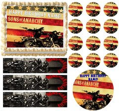 Sons of Anarchy Bikers Edible Cake Topper Image Frosting Sheet