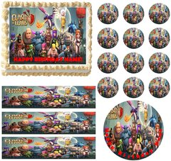 Clash of Clans Characters Edible Cake Topper Image Frosting Sheet