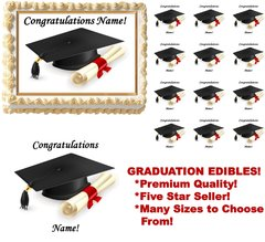 Graduation Class of 2017 Edible Cake Topper Image Frosting Sheet