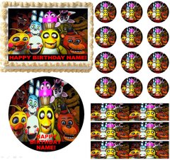 FIVE NIGHTS AT FREDDY'S Up Close Edible Cake Topper Image Frosting Sheet