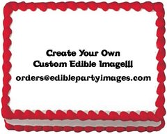 Design Your Own Sheet Cake : Create Your Own Edible Cake Image Edible Party Images