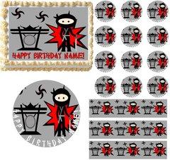 Ninja Theme Ninjas Edible Cake Topper Image Frosting Sheet