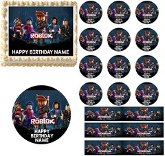 Roblox Edible Cake Topper Image Cupcakes Roblox Characters Cake Edible Images