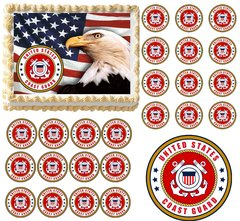 United States COAST GUARD Military Edible Cake Topper Image Frosting Sheet
