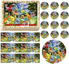 POKEMON Flying Edible Cake Topper Image Frosting Sheet