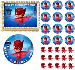 PJ Masks OWLETTE Edible Cake Topper Image Frosting Sheet Cake Decoration