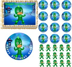 PJ Masks GEKKO Edible Cake Topper Image Frosting Sheet Cake Decoration