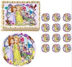 SOFIA the PRINCESS Sofia and Amber Edible Cake Topper Image Frosting Sheet