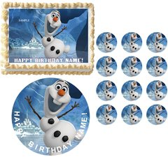 FROZEN OLAF Party Edible Cake Topper Image Frosting Sheet