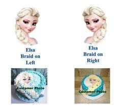 FROZEN ELSA Head Braid Edible Frozen Image Elsa Braid Cake Image