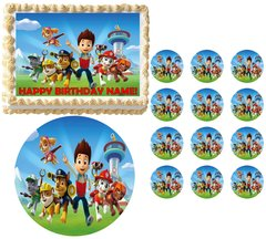 PAW PATROL CHARACTERS Edible Cake Topper Image Frosting Sheet