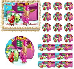 SHOPKINS Cute Party Edible Cake Topper Image Frosting Sheet