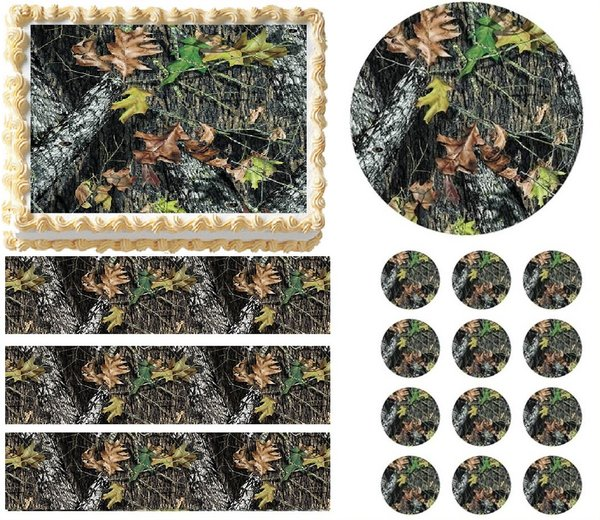 mossy oak wedding cake toppers mossy oak tree print edible cake topper image frosting 17539